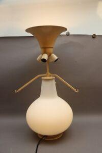 FONTANA ARTE Italien Tischlampe Modell 1853/1 DESIGN Max INGRAND Milchglas