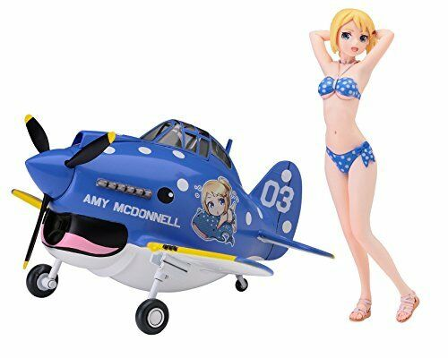Hasegawa egg Girls Collection No.03 1//20 Amy McDonnell w//egg airplane P-40 War #