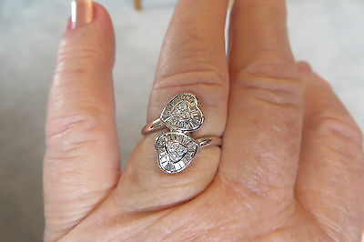 14K WG .55 Carat Baguette And Round Diamond Heart Ring SI1-I1 H/I