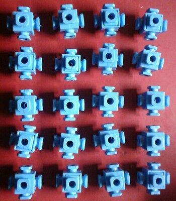 CONSTRUX Building Toys Parts Lot Of 40 Blue Knot Connectors Vintage Fisher Price