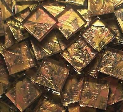 100 VAN GOGH Gold Copper Glass Mosaic Tile Tile art supplies craft