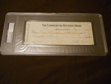 WOODROW WILSON SIGNED CHECK DATED NOV. 13 1916 PSA/DNA AUTO 28th PRESIDENT
