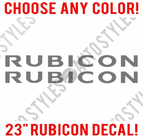 "23/"" Jeep RUBICON TJ JK CJ YJ JKU Wrangler JL Decal PAIR of Stickers Hood Fender"