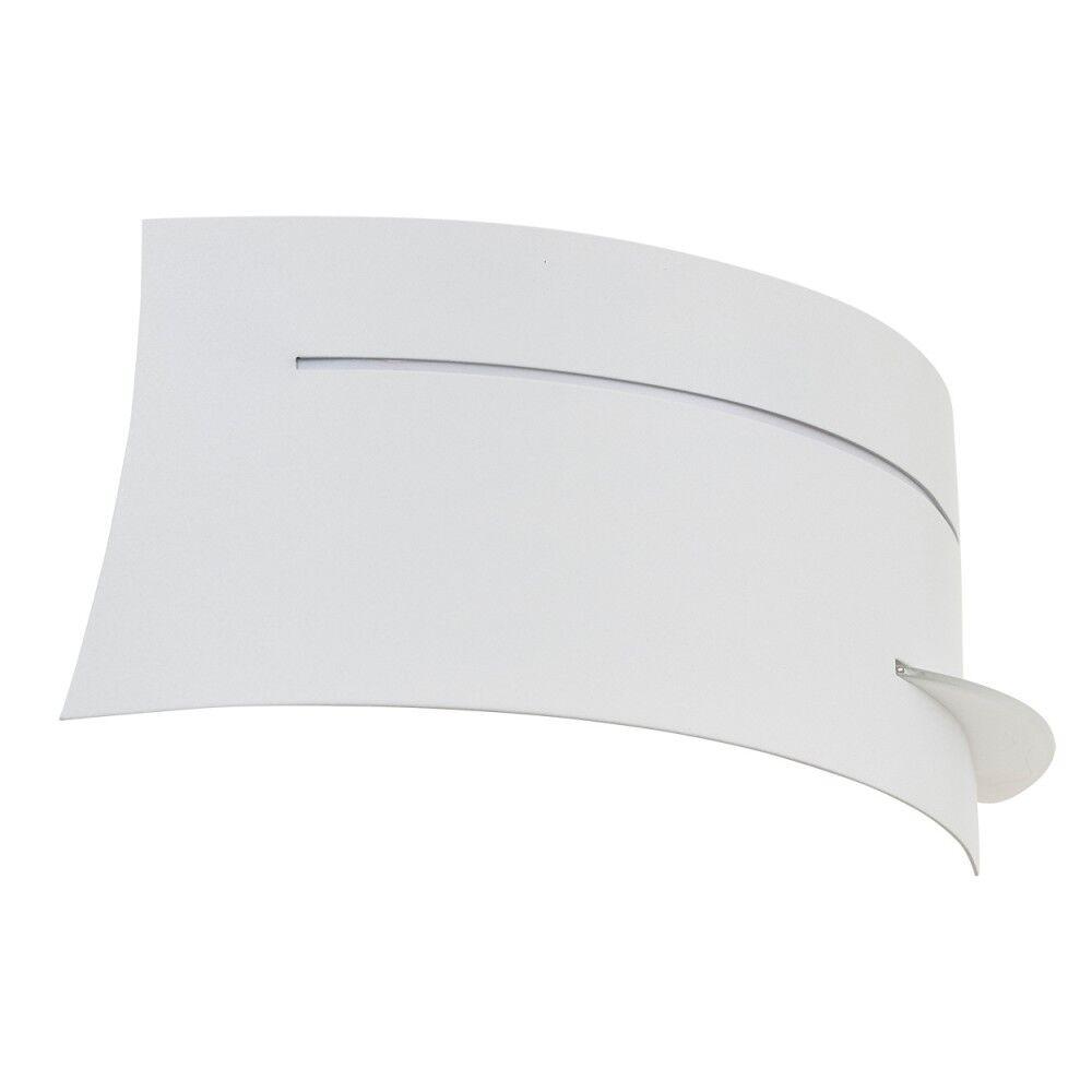 Lampada da da da parete applique murale bianca vetro moderno design soggiorno 142092 135236