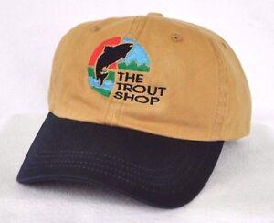 94790bd59c6 THE TROUT SHOP MISSOURI RIVER MONTANA  Fly Fishing Ball cap hat ...