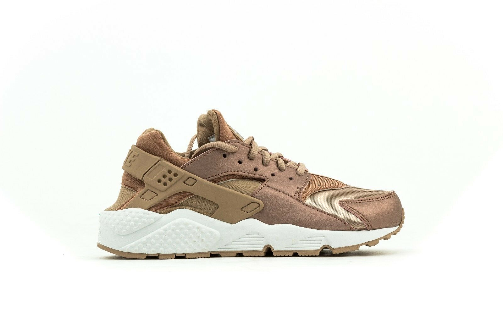 WOMEN'S NIKE AIR HUARACHE RUN NSW METALLIC ROSE/ELM  859429-900 SIZES W6.5