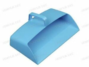 Blue-Plastic-Hooded-Dustpan-Large-Strong-Closed-Dust-Pan