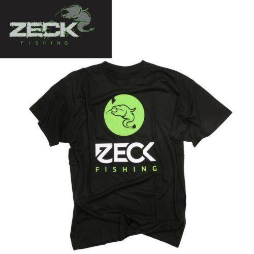 Wallerangeln Zeck T-Shirt Black Angelshirt Angelbekleidung Angel T-Shirt