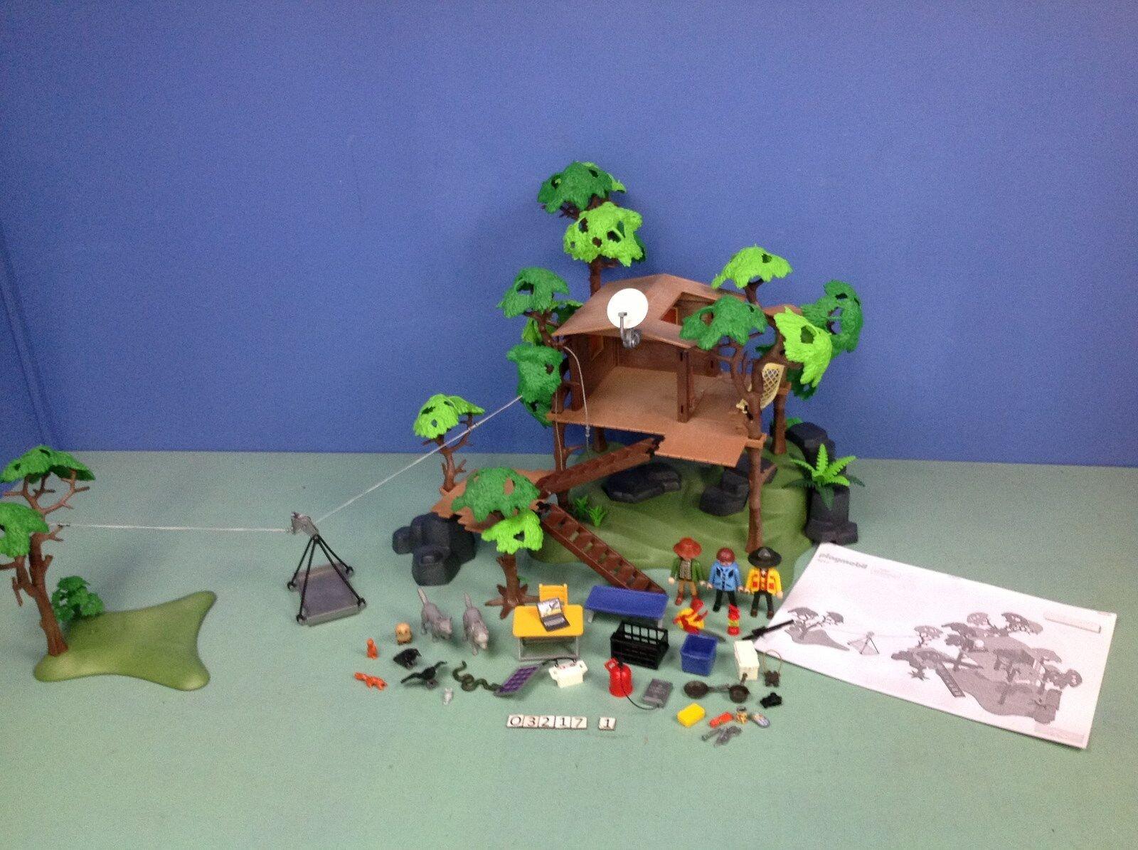 (O3217.1) playmobil maison dans les arbres, aventure ref 3217 3219
