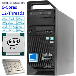 Core-Lenovo-S20-Thinkstation-Xeon-X5650-48-GB-Ram-neue-1-TB-SSD-Grafik