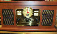 New Innovative Technology Brand Nostalgic 5-in-1 Wooden Stereo Music Center