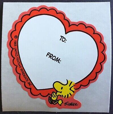 VINTAGE 80 s Autocollants-Hallmark-SNOOPY-Valentine /'s 2.5 x 3 pouces!!!