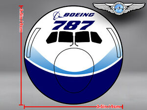 BOEING-787-B787-DREAMLINER-LIVERY-FRONT-VIEW-ROUND-DECAL-STICKER