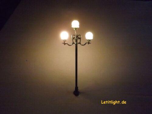 Laterne Lampe mit LED Technik 12 Stück Nr 7 Nostalgie Straßenleuchte