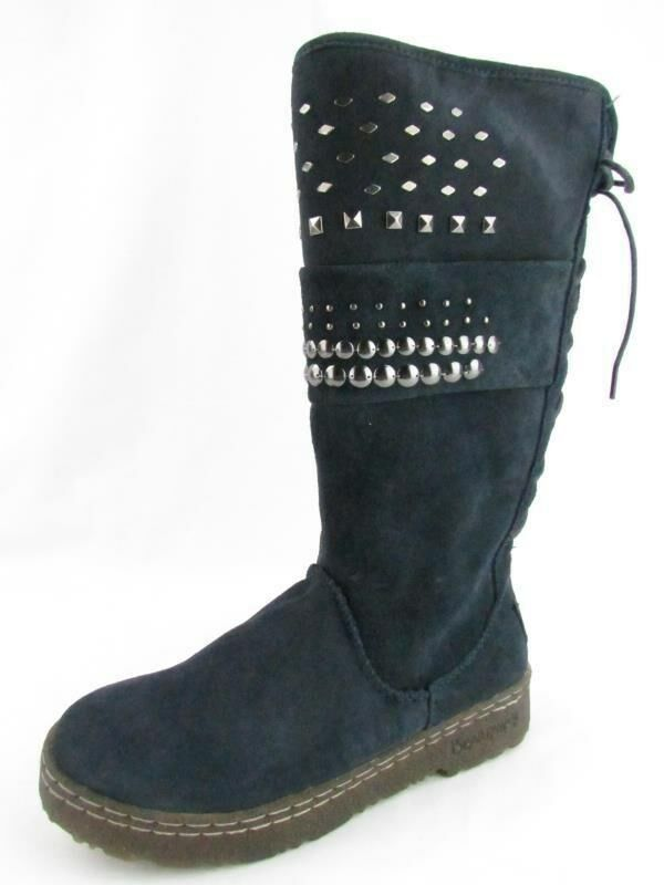 BEARPAW SILVERTHORNE Navy Tall Shearling Winter Stiefel Stiefel Stiefel Damenschuhe 6 NEW IN BOX 820627