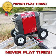 Honda Generator wheel kit EU3000is - SOLID NEVER FLAT TIRES - All Terrain!!