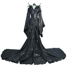 Halloween Costume Maleficent Cosplay Costume Balck Dress Women Costume US ship