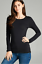 Basic-Long-Sleeve-Solid-Top-Womens-Plain-Cotton-T-Shirt-Stretch-Tight-Crew-Neck thumbnail 6