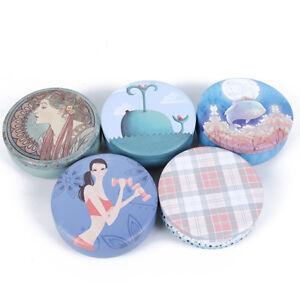 Round Candy Trinket Tin Jewelry Metal Box Tea Coin Storage Round Box Case S