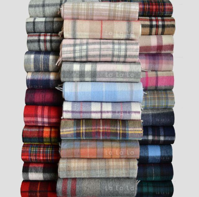 Edinburgh 100/% Lambswool Luxury Scottish Tartan Stole Royal Stewart