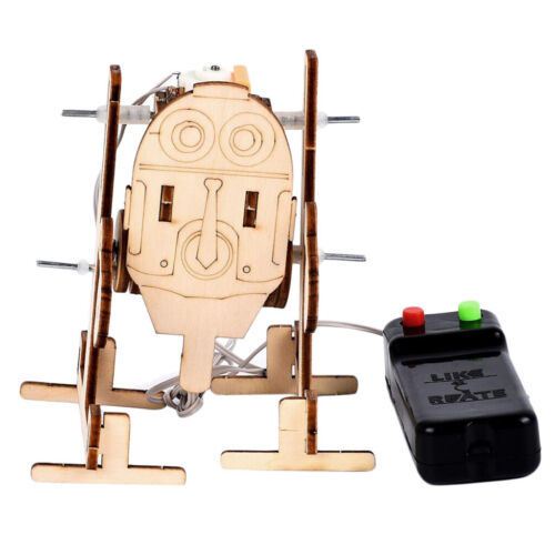 3D Puzzle Wooden Craft Kit Robot Machinarium Toy With Remote Control for Kid