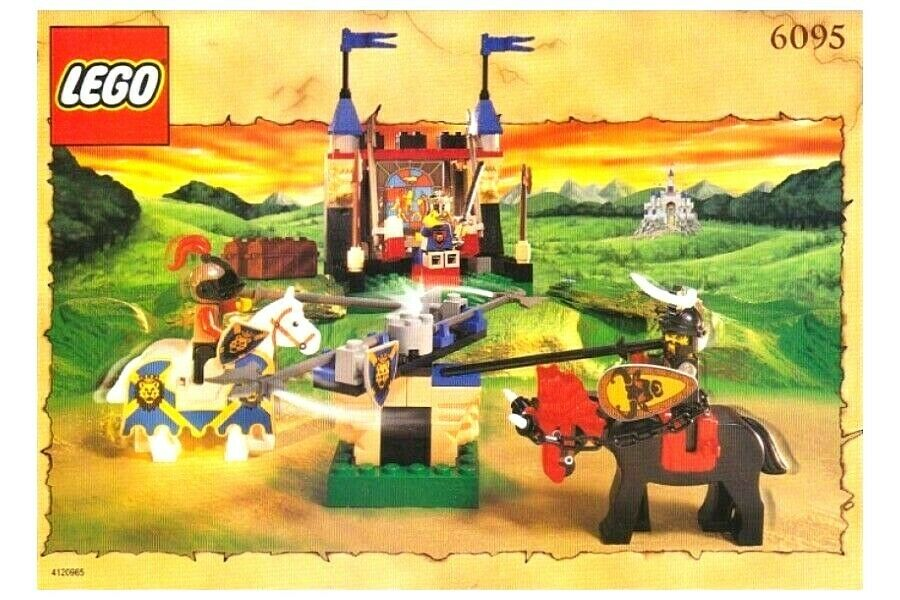 Boxed Lego 6095 Knights Kingdom - Royal Joust, 100% COMPLETE, Instructions