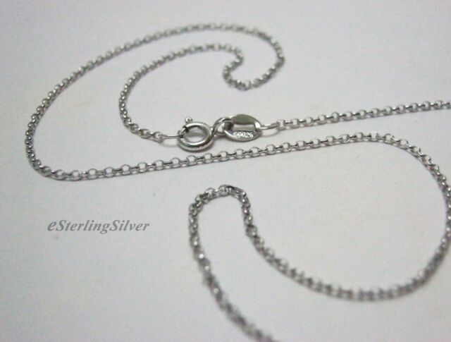 "925 Sterling Silver Cable Link Chain / Necklace - 16"" Inches, 1.4 Grams, 1.3mm"