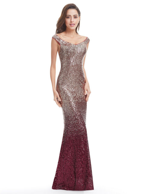f4ad126f2e Long Maxi Mermaid Bridesmaid Dresses Evening Party Ballgown Red ...
