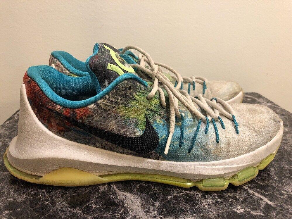 Nike KD8 VIII N7 Basketball shoes  811363-123 White Multicolor Sz 10