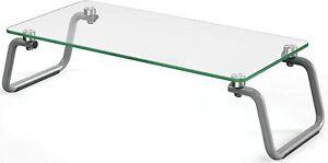 Base para monitor loryergo vidrio templado, base para laptop con 12cm altura ergonómico