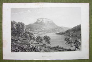GERMANY-Castle-Konigstein-1820s-Copper-Engraving-by-Cpt-Batty