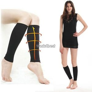 New Women s Slim Sleeping Beauty Leg Shaper Compression Burn Fat ... 32ae76e1e19a