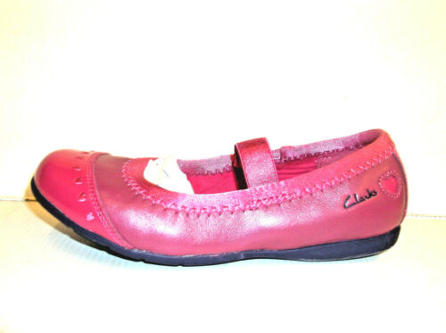 *SALE* Clarks 'Dance Chic' Girls Pink Slip On Leather Dance/Party Shoes