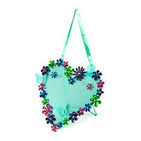 Flower And Butterfly Heart Shaped Jewelry Holder Organizer Earrings -