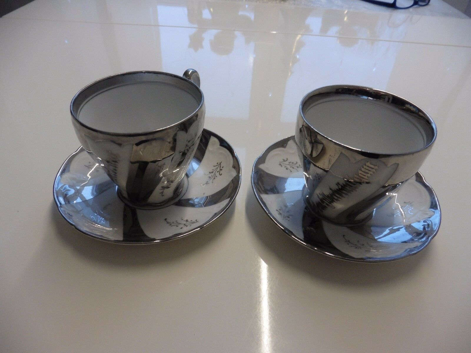 Antik Krister KPM 1 Tasse  Der Silberbraut, Silberbraut, Silberbraut, 1 Tasse Dem Silberbräutigam+Untert.   New Products  31ba81