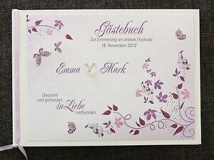 Gastebuch Hochzeit Lila Flieder Hochzeitsbuch Blumenranken Deko