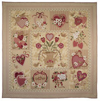 Vintage Valentine Quilt Pattern, Bom Applique From The Vintage Spool