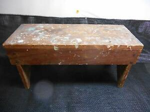 Wondrous Details About Antique Primitive Wood Garden Bench Seat Milking Stool Old Vtg Wooden Gmtry Best Dining Table And Chair Ideas Images Gmtryco