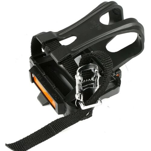 Bike Pedals with Clips and Straps for Outdoor Cycling and Indoor Statio G9Y0 Details about  /1X