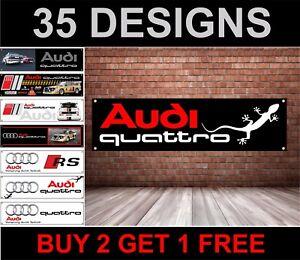 Audi-Logo-PVC-Banner-per-Officina-Garage-amp-Camera-da-Letto