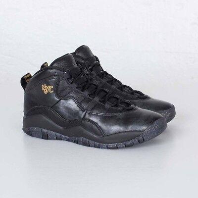 low priced 3bfe9 4f53d 310806-012 Air Jordan Retro 10 X NYC Big Kids BG GS Black Gold   eBay