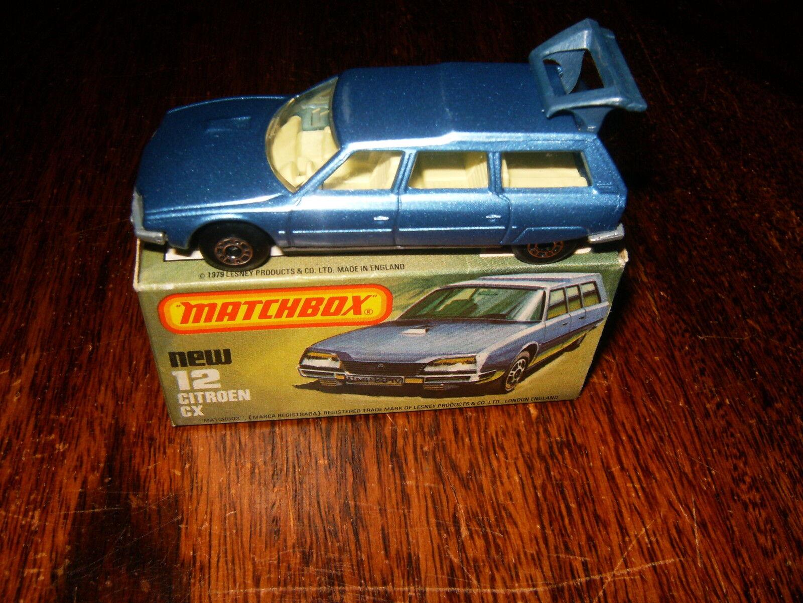 Matchbox Superfast. No. 12.Citroen CX. CX. CX. 1979. Very Fine with Fine Original  Box. 278d02