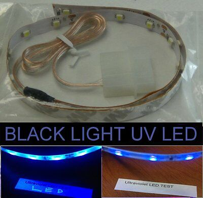 UV-A (black-bluish) LED strip 15inches Self-adhesive for PC Computer case Light