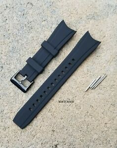 BLACK RUBBER STRAP BAND FOR FIT CITIZEN BN0085-01E BJ2110 BJ2115-07E  BJ2117-01E