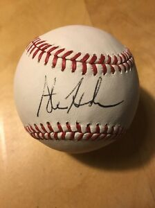 Steve-Henderson-Autograph-Signed-Olmb-Official-Major-League-Baseball