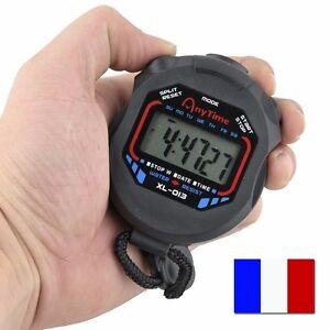 Chronometre-Multifonction-Montre-Alarme-Sport-1-100-Sec-Precision-Professionnel
