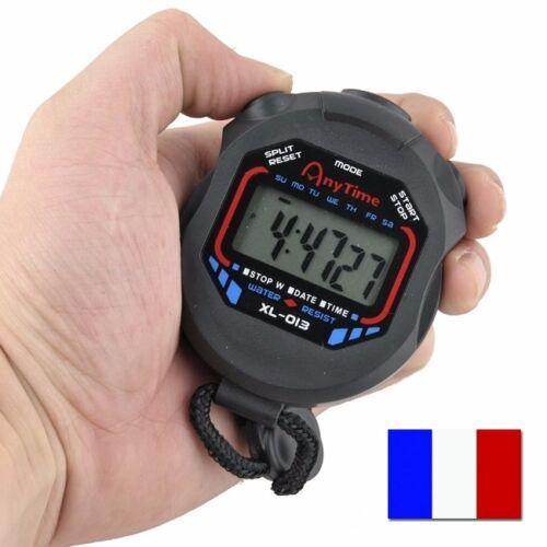 Chronomètre Multifonction Montre Alarme Sport 1/100 Sec Précision Professionnel