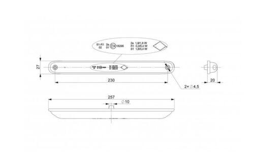 2x LED Rückleuchten Lampe 10-30V E-Geprüft Truck Lkw Anhänger Kipper Fahrgestell