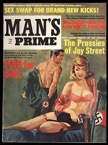 Man-039-s-Prime-January-1965-Sexy-Nazi-Cover-Sex-Swap-Vietnam-Blood-Bath-Pinup-Fine