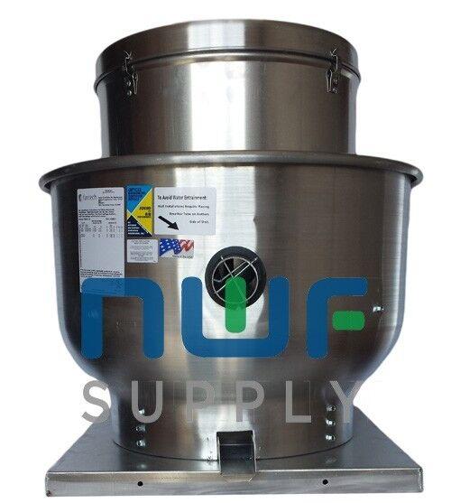 Restaurant Upblast Commercial Hood Exhaust Fan 30x30 1 HP 3986 CFM 1 Ph 30